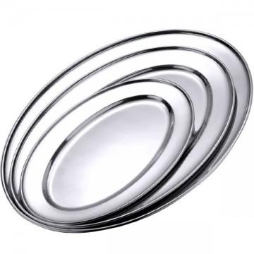 Plats inox ovals lot de 3