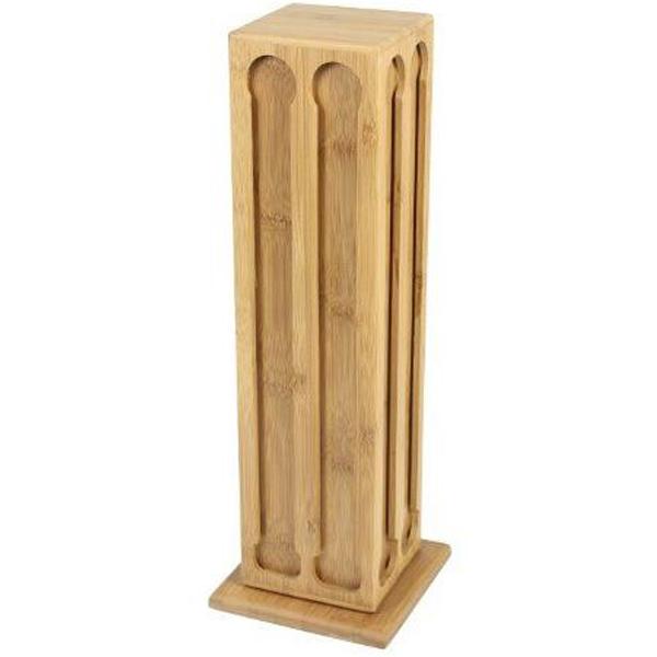 porte 80 capsules sur support pivotant en bois de bambou. Black Bedroom Furniture Sets. Home Design Ideas