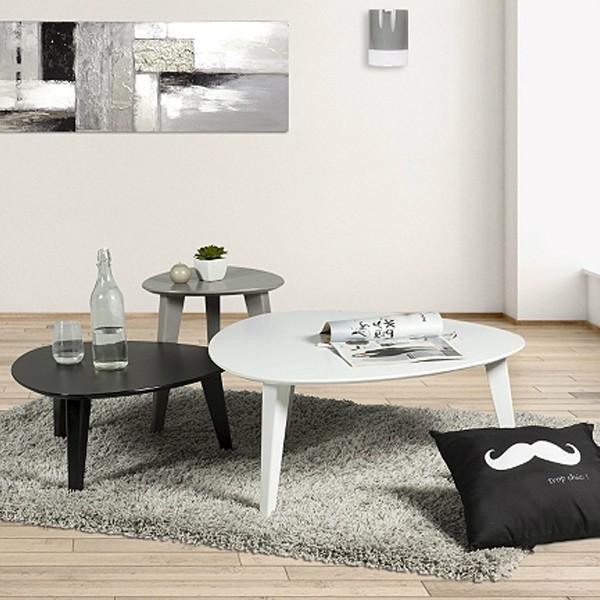 set 3 tables basses gigognes demeyere. Black Bedroom Furniture Sets. Home Design Ideas