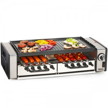 Grill multifonctions broches rotatives, plancha