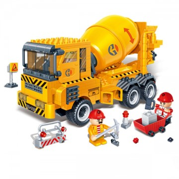Blocs de construction camion de travaux publics