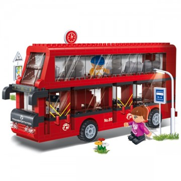 Blocs de construction bus anglais