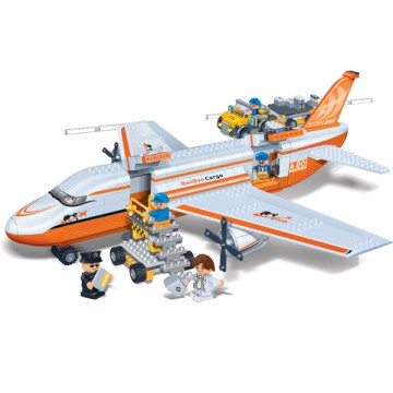 Blocs de construction avion de voyage et camion