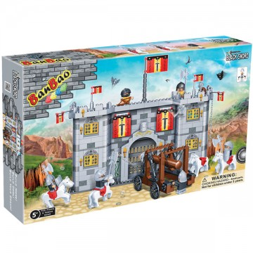 Blocs de construction château catapulte