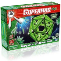 Jeu de construction supermag glow 66 phosphorescentes