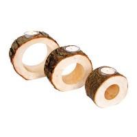 Photophores rond en bois par 3