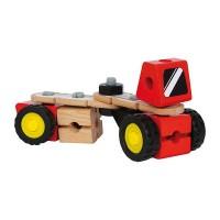 Boîte de construction bolide en bois 5 en 1