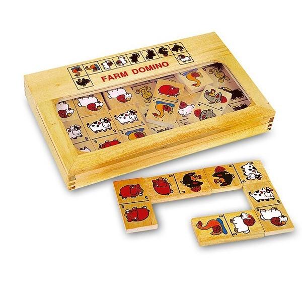 jeu de domino la ferme en bois small foot. Black Bedroom Furniture Sets. Home Design Ideas