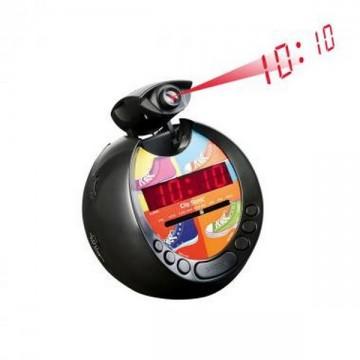 Radio-réveil FM Projecteur de l'heure 180°
