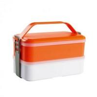 Lunch box 2 compartiments et couverts