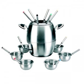 Service à fondue inox 6 personnes