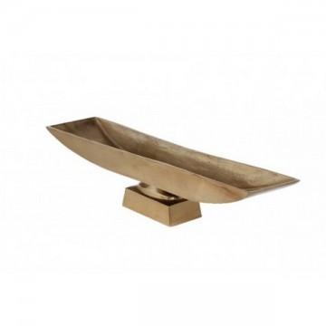 Plat métal sur pied 59x13 cm