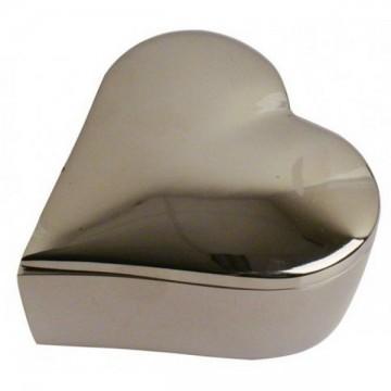 Écrin forme cœur métal 10 cm