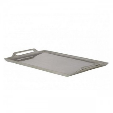 Plateau rectangulaire métal argenté 2 anses 30 cm