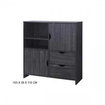 Meuble rangement casiers et portes