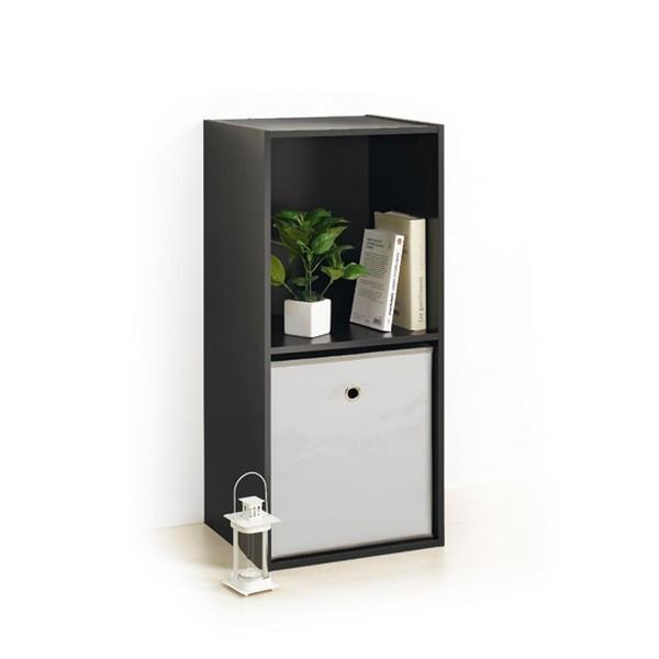 module 2 cubes de rangement noir modul 39 home. Black Bedroom Furniture Sets. Home Design Ideas