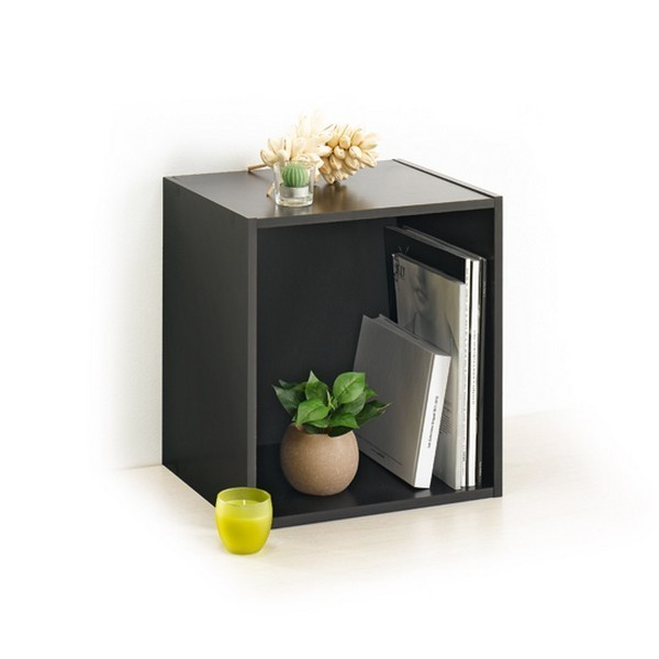 cube rangement 1 niche noir modul 39 home. Black Bedroom Furniture Sets. Home Design Ideas