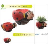 Cache-pot décor coccinelle