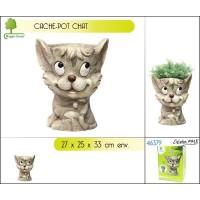 Cache-pot décor chat