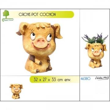Cache pot décor cochon