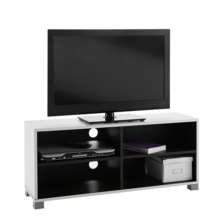 meuble tv blanc et noir conceptions de maison. Black Bedroom Furniture Sets. Home Design Ideas