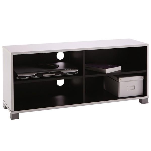 Meuble t l design noir et blanc demeyere for Meuble tele blanc et noir