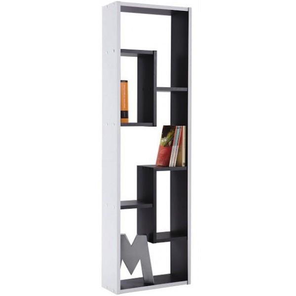 Meuble biblioth que 3 et 2 cases noir et blanc demeyere - Ikea bibliotheque angle ...