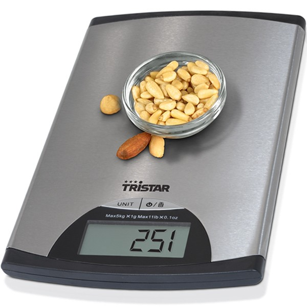 Balance de cuisine 5 kg contr le digital tristar for Mini balance de cuisine