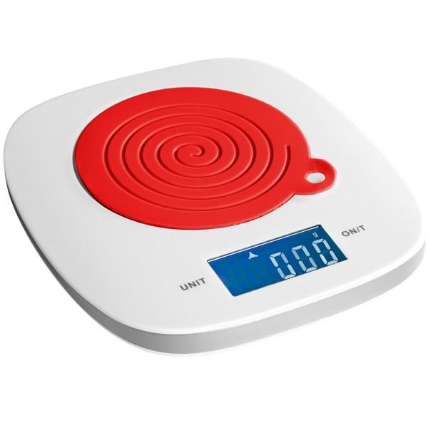 Balance de cuisine blanc et rouge