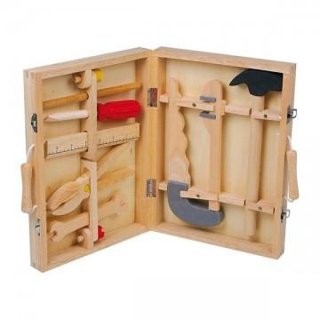 Boîte à outils complète en bois