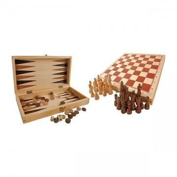 Jeux de société en bois