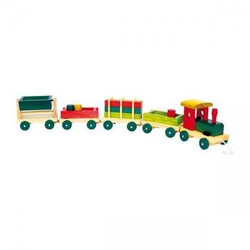 Train en bois coloré Small Foot