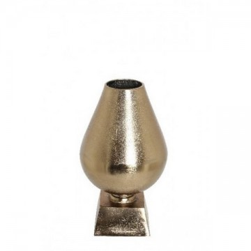 Vase sur pied métal doré rose 24 cm