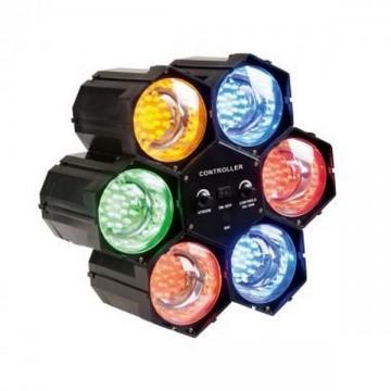 Jeu de lumière disco 6 spots LED