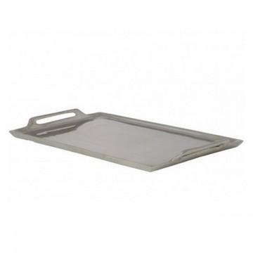 Plateau métal argenté 2 anses 30 cm