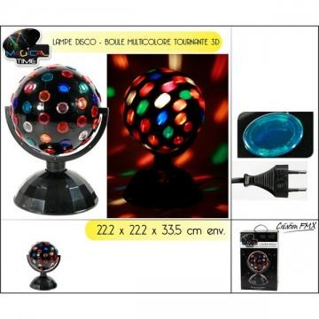 Lampe disco boule tournante