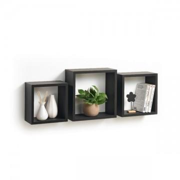 Cubes gigognes 3 tailles noir