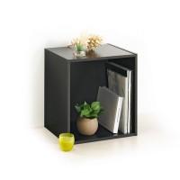 Cube rangement 1 niche noir