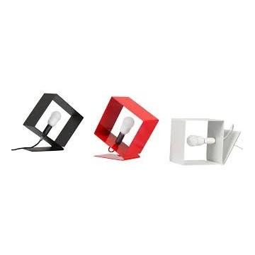 Lampe cube métal