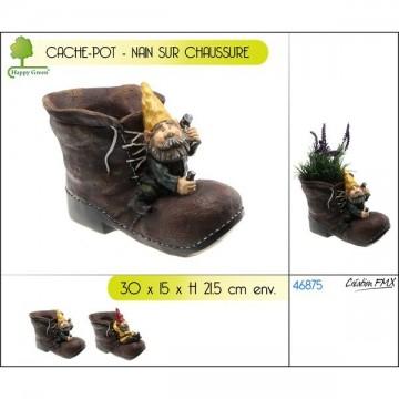 Cache-pot chaussure nain