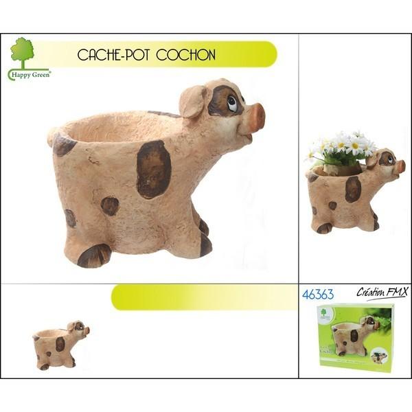 cache-pot forme cochon