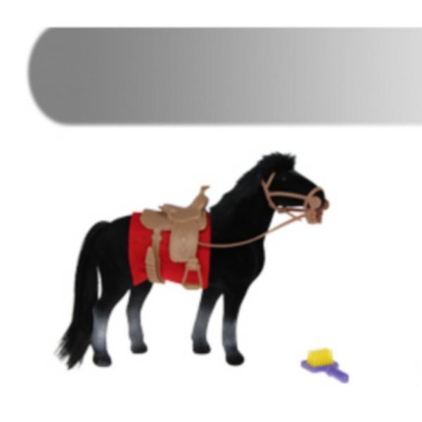 Cheval floqué noir