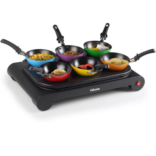 Six mini woks à crêpes Party
