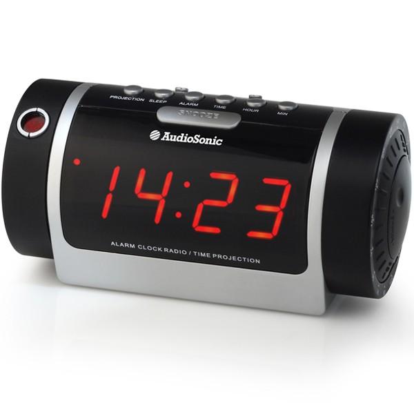 Radio Réveil Projecteur affichage digital rouge