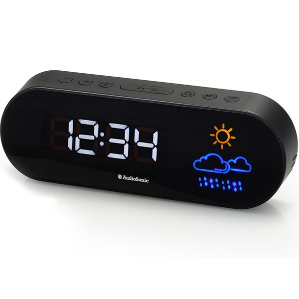 Radio Réveil avec prévision météo et réglage de lumière